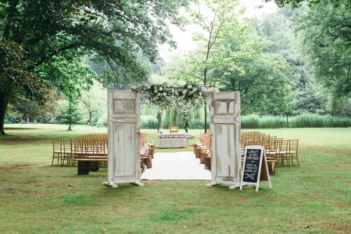Vintage bruiloft decoratie verhuur